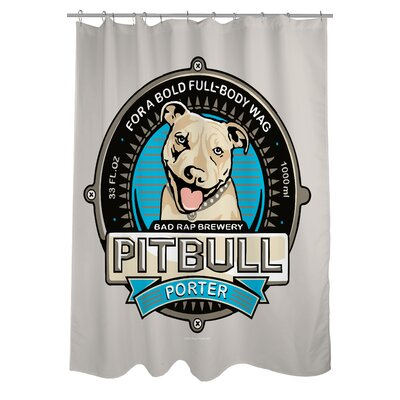Doggy Decor Pitbull Porter Shower Curtain
