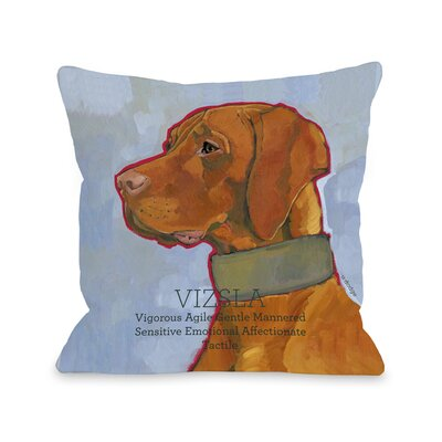 Doggy D�cor Vizsla Throw Pillow Size: 20