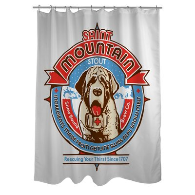 Doggy Decor Saint Mountain Shower Curtain