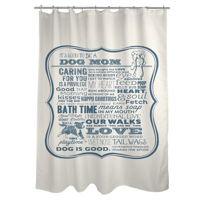 Doggy Decor Dog Mom Shower Curtain