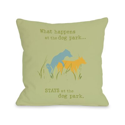Doggy D�cor Dog Park Throw Pillow Size: 18 H x 18 W