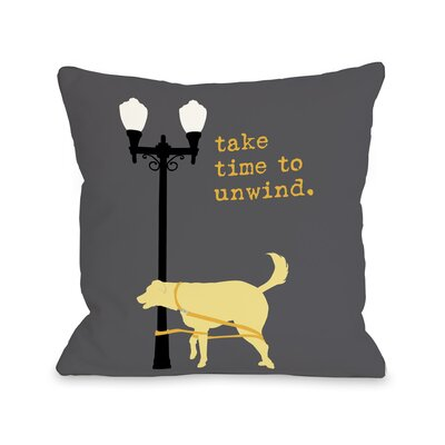 Doggy D�cor Unwind Dog Throw Pillow Size: 18 H x 18 W