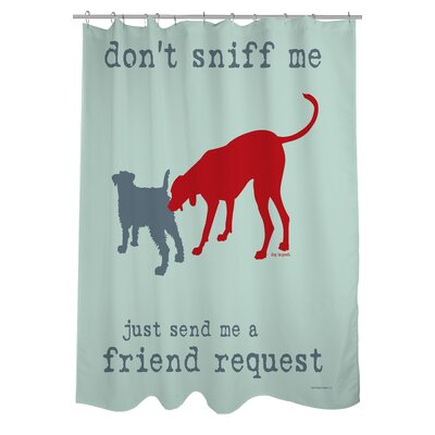 Doggy Decor Friend Request Shower Curtain