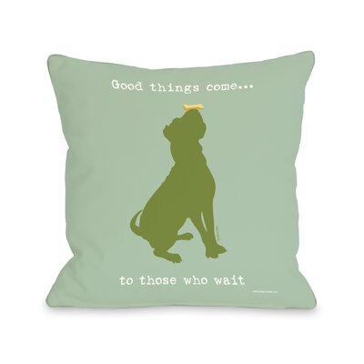 Good Things Come Fleece Throw Pillow