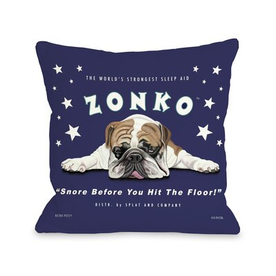 Doggy D�cor Zonko Throw Pillow Size: 16 x 16