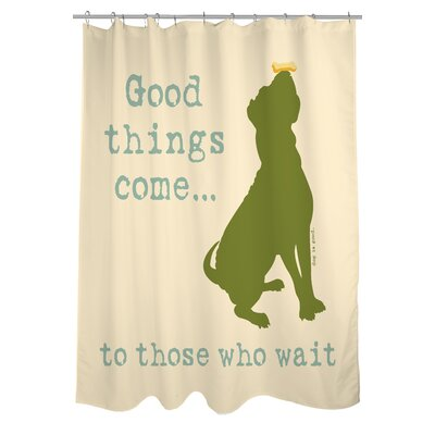 Doggy Decor Good Things Come Shower Curtain