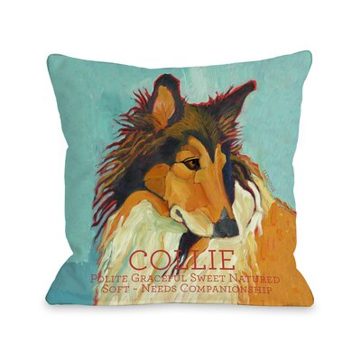Doggy D�cor Collie Throw Pillow Size: 26 H x 26 W