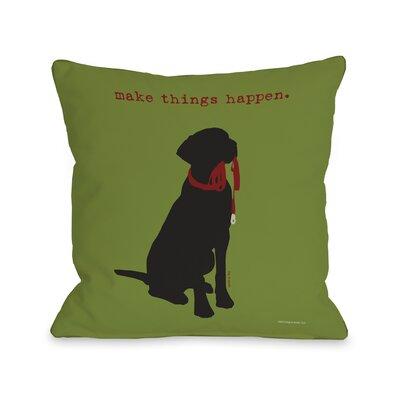 Make Things Happen Fleece Throw Pillow