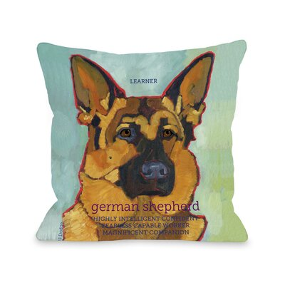 Doggy D�cor German Shepherd Throw Pillow Size: 20 H x 20 W