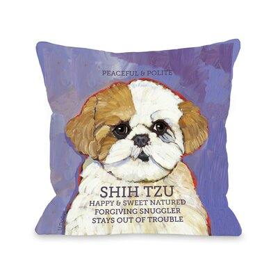 Doggy D�cor Shihtzu Throw Pillow Size: 26