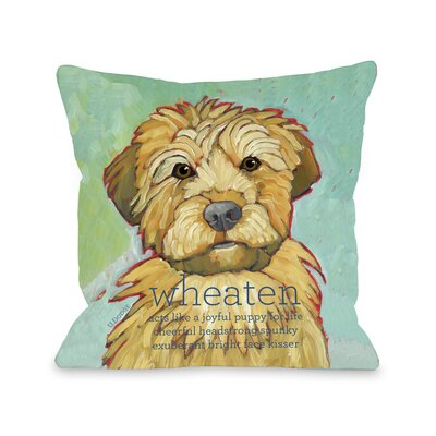 Doggy D�cor Wheaten Throw Pillow Size: 18 H x 18 W