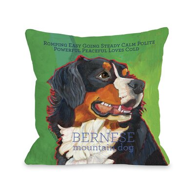Doggy D�cor Bernese Mountain Dog Throw Pillow