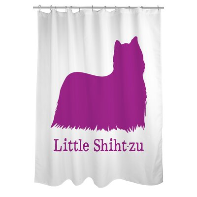Doggy Decor Little Shihtzu Shower Curtain