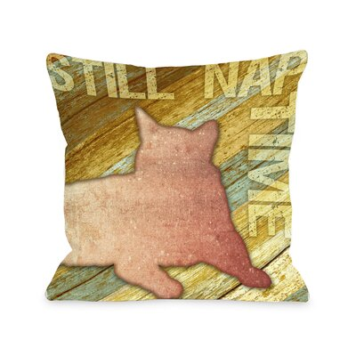 Doggy D�cor Still Nap Time Wood Throw Pillow Size: 18 H x 18 W