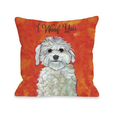 I Woof You Fleece Throw Pillow