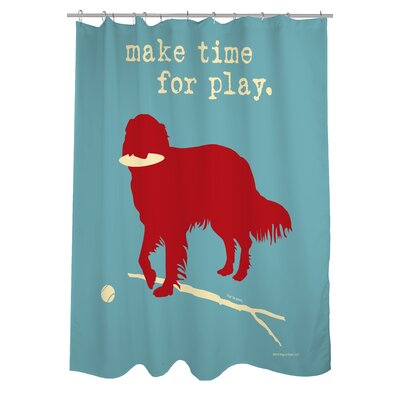 Doggy Decor Time for Play Shower Curtain