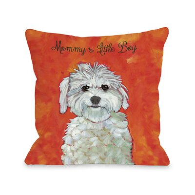 Mommys Little Boy Fleece Throw Pillow