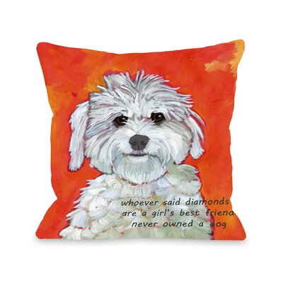 Girls Best Friend Fleece Throw Pillow
