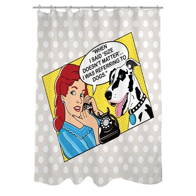 Doggy Decor Matter Shower Curtain