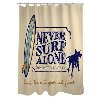 Doggy Decor Never Surf Alone Shower Curtain