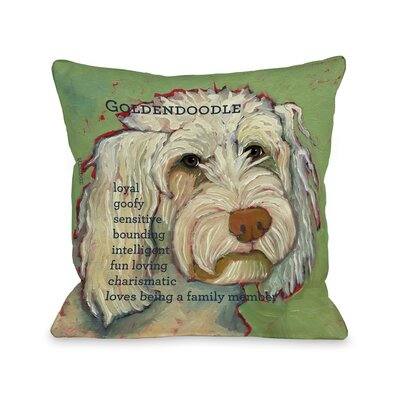 Golden Doodle 1 Fleece Throw Pillow