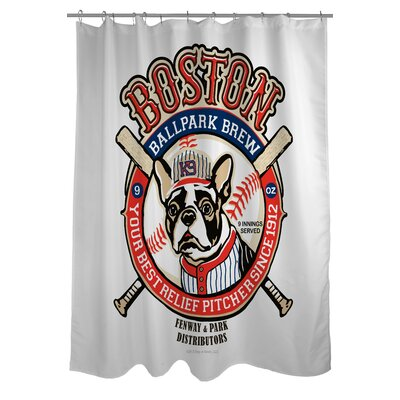 Doggy Decor Boston Brew Shower Curtain