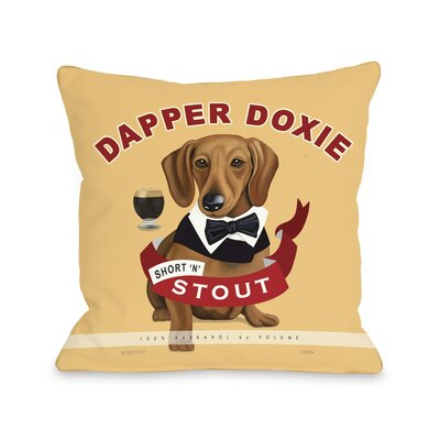 Doggy D�cor Dapper Doxie Throw Pillow Size: 26 x 26