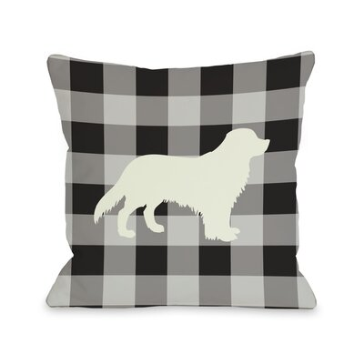 Doggy D�cor Gingham Silhouette Golden Lumbar Pillow