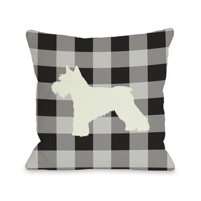 Doggy D�cor Gingham Silhouette Schnazuer Throw Pillow Size: 18 H x 18 W