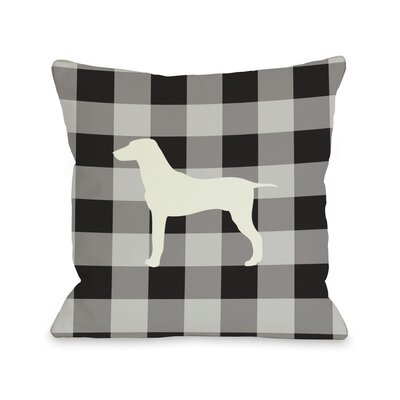 Doggy D�cor Gingham Silhouette Mixed Breed Throw Pillow