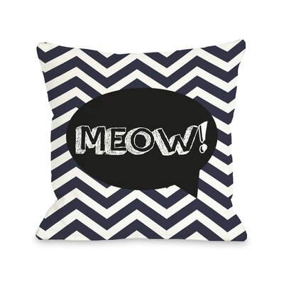 Doggy D�cor Chevron Meow Talk Bubble Throw Pillow