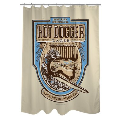 Doggy Decor Hot Dogger Shower Curtain