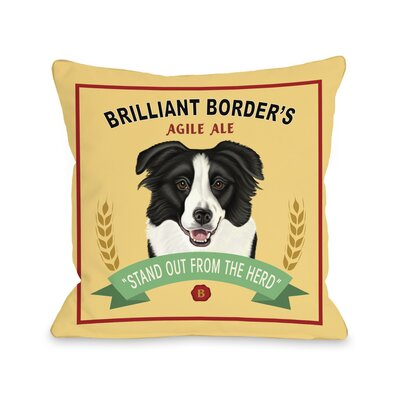 Brilliant Border Throw Pillow Size: 18