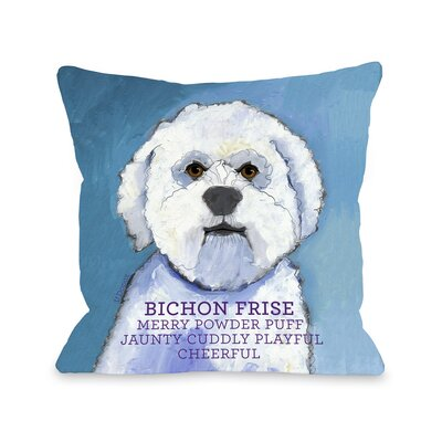 Doggy D�cor Bichon Frise Throw Pillow Size: 26 H x 26 W