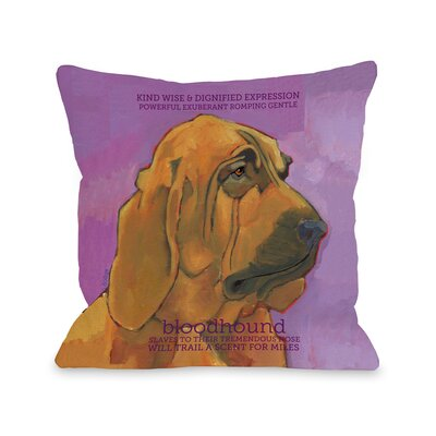 Doggy D�cor Bloodhound Throw Pillow Size: 18 H x 18 W