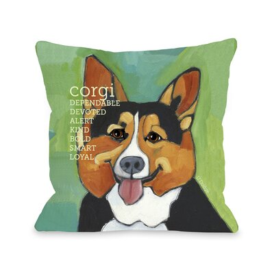 Doggy D�cor Corgi Throw Pillow Size: 18