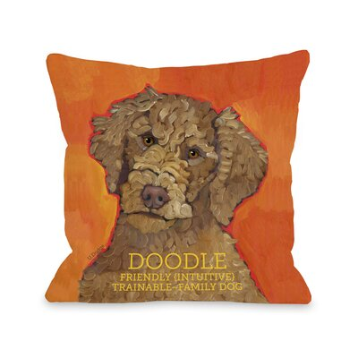 Doggy D�cor Doodle Throw Pillow Size: 18 H x 18 W
