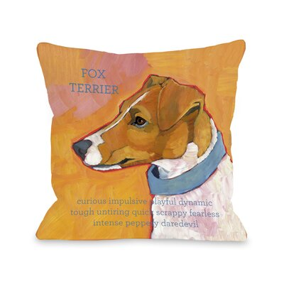 Doggy D�cor Fox Terrier Throw Pillow Size: 26 H x 26 W