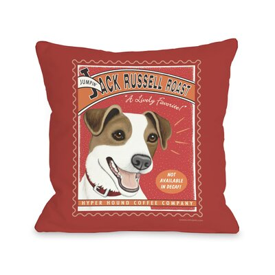 Doggy D�cor Jack Russell Roast Throw Pillow Size: 26 H x 26 W