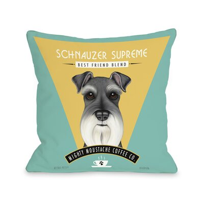 Schnauzer Supreme Throw Pillow Size: 20 H x 20 W x 4 D