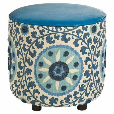 Nasha Ottoman Body Fabric: Blue / Blue