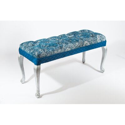 Aida Upholstered Bedroom Bench Color: Blue