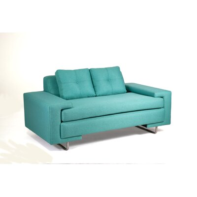 Rico Loveseat Upholstery: Teal