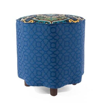 Morrocan Ottoman Upholstery: Blue