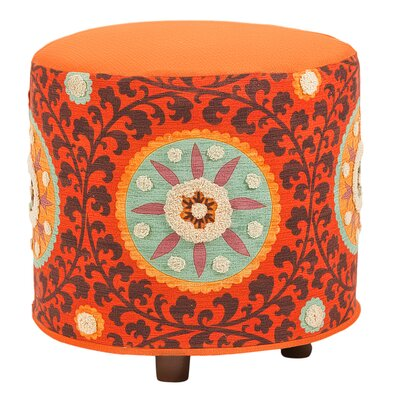 Nasha Ottoman Body Fabric: Rust / Orange