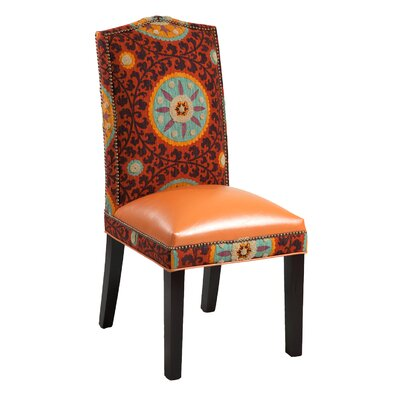 Gabrielle Cotton Parsons Chair (Set of 2) Upholstery: Rust Orange