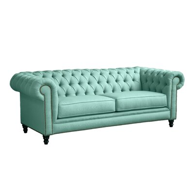 Meagan Chesterfield Sofa Upholstery: Teal