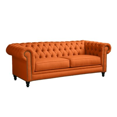 Meagan Chesterfield Sofa Body Fabric: Saffron
