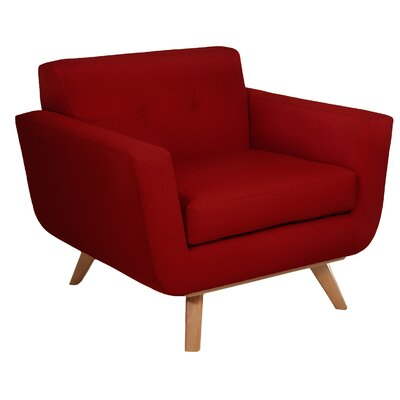 Atomic Arm Chair Color: Berry