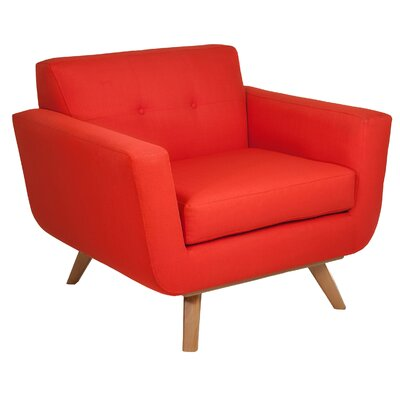 Atomic Arm Chair Color: Atomic Orange